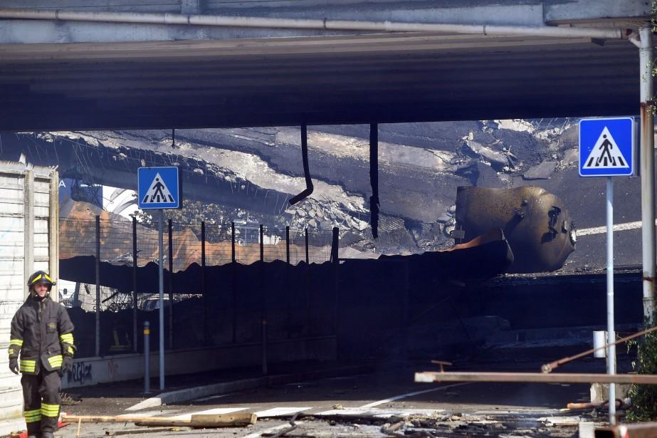 L'accident a fait un mort - le chauffeur... (Gianni Schicchi, Agence France-Presse)