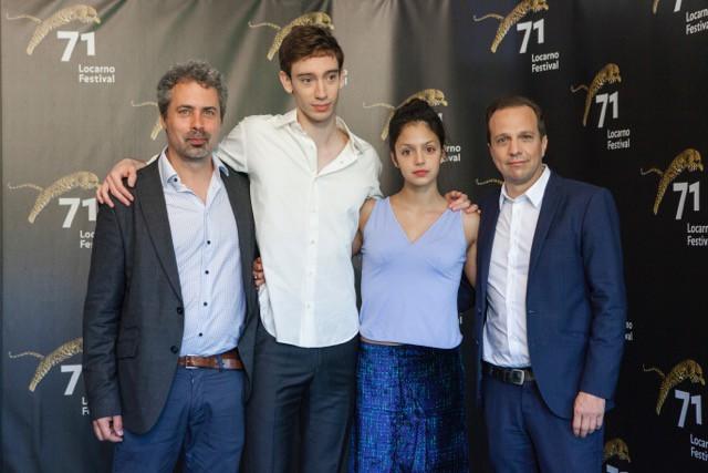 Le producteur Galilé Marion-Gauvin ainsi que les acteurs... (Photo Marco Abraham, fournie par le Festival du film de Locarno)