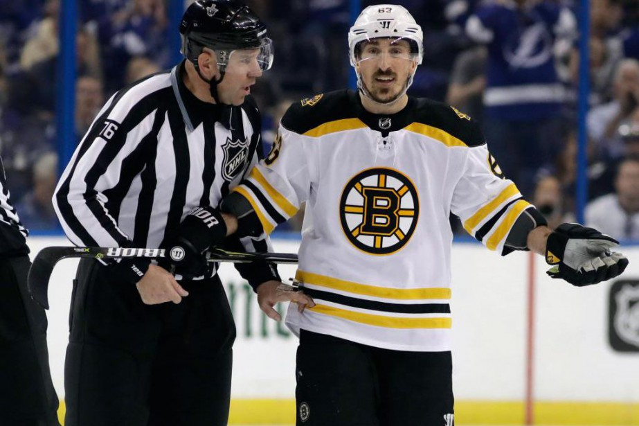 L'attaquant des Bruins de Boston Brad Marchand a... (Photo Chris O'Meara, Associated Press)