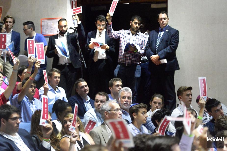 Le congrès des jeunes Libéraux en 2016.... (Photothèque Le Soleil)