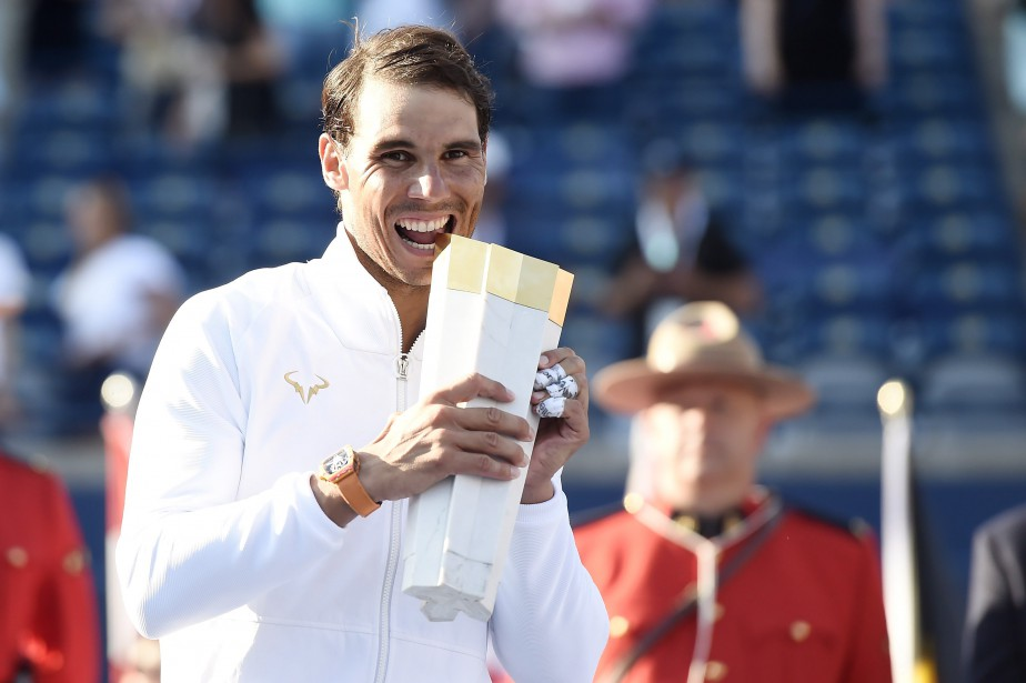 Rafael Nadal a remporté la Coupe Rogers à... (Photo Nathan Denette, PC)