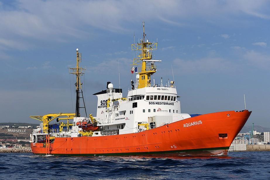 Les ONG affrétant l'Aquariusn'ayant pas cherché à obtenir... (PHOTO BORIS HORVAT, ARCHIVES AGENCE FRANCE-PRESSE)