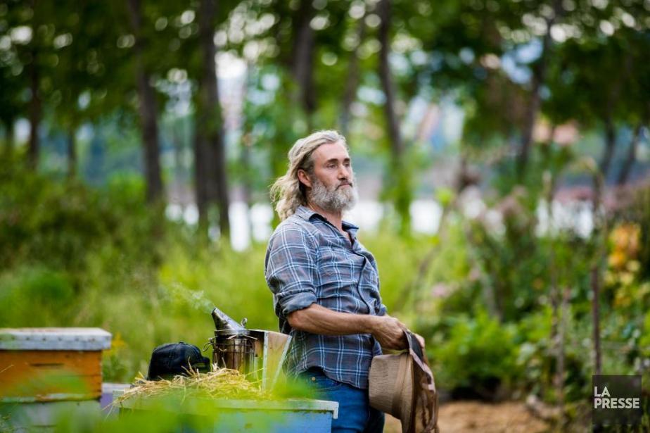 Roy Dupuis sur le plateau deLa beauté du... (PHOTO MARCO CAMPANOZZI, LA PRESSE)