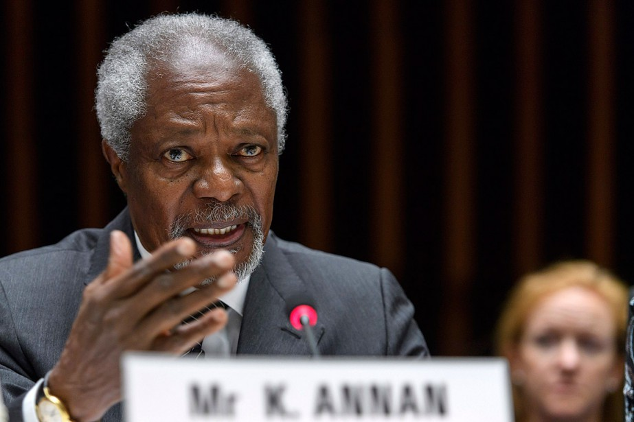 Diplomate de carrière, Kofi Annan a contribué à... (Photo Martial Trezzini, archives Keystone via AP)