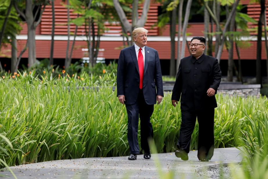 Donald Trump et le leader nord-coréen Kim Jong-un... (PHOTO Jonathan Ernst, ARCHIVES REUTERS)