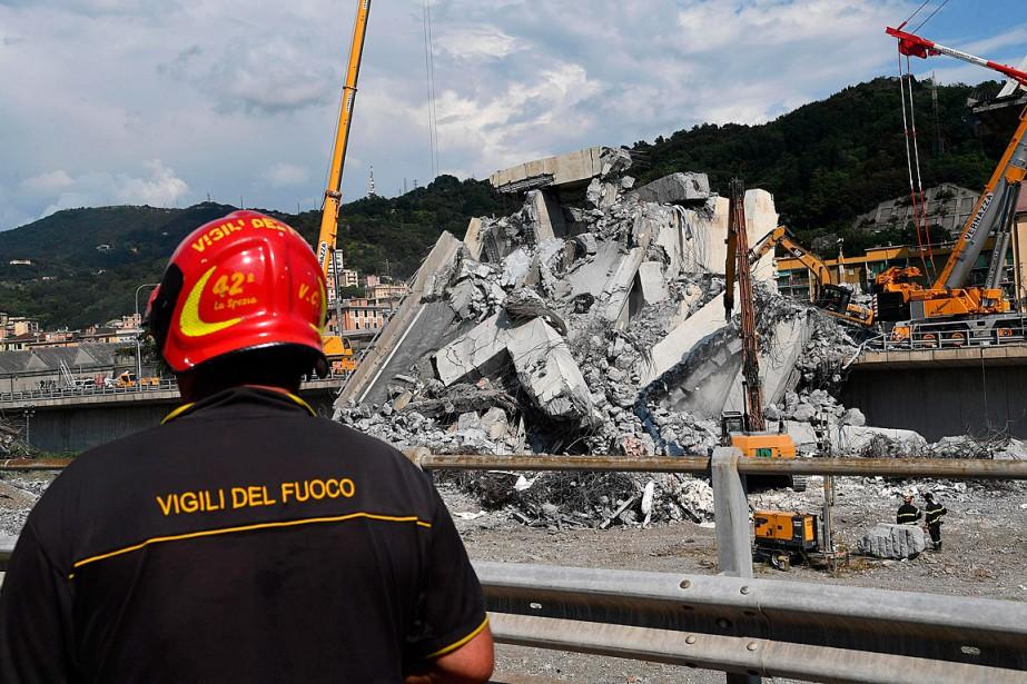 La découverte de ces trois corps signifie qu'il... (Photo Luca Zennaro, ANSA via AP)