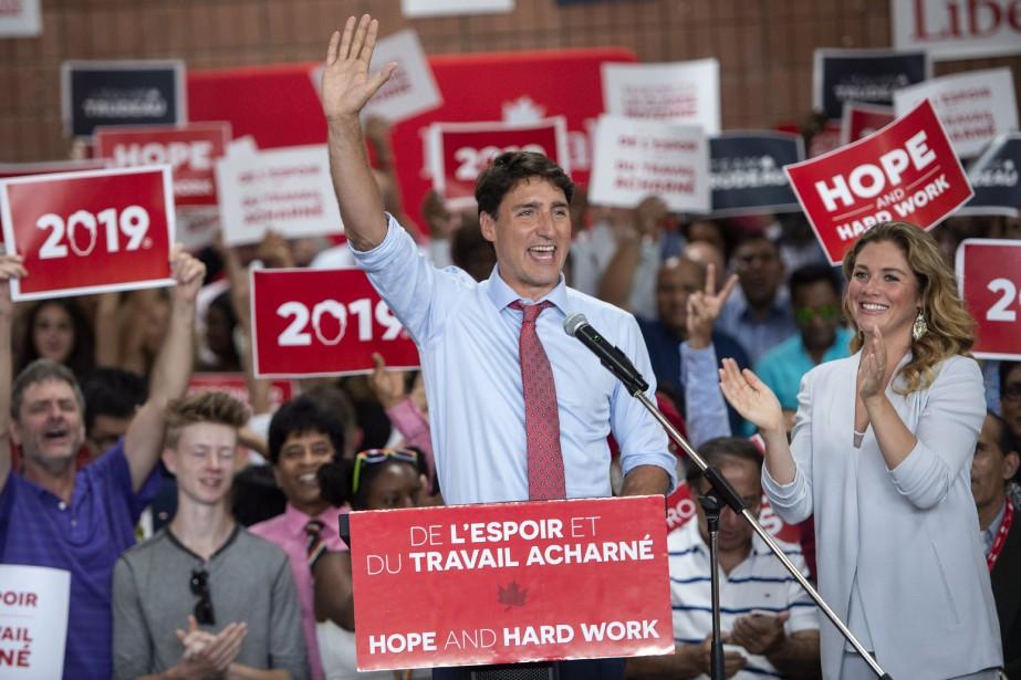 JustinTrudeau a profité de l'assemblée pour lancer une... (photo Paul Chiasson, PC)