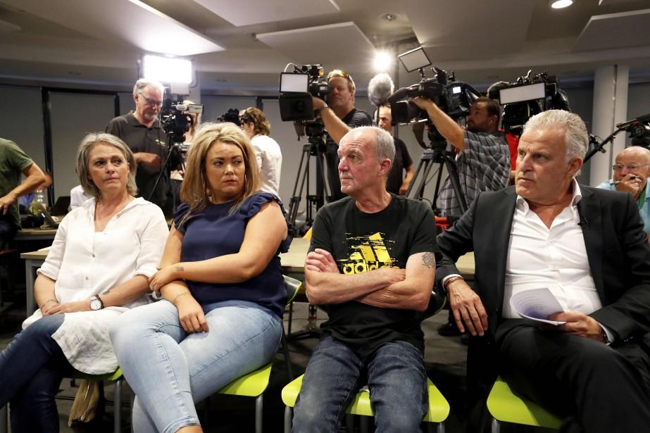 La famille deNicky Verstappen assiste à la conférence... (AFP)