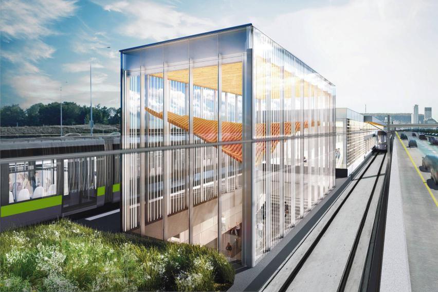 Le REM, un projet de 6,3milliards, est piloté... (Photo CDPQ Infra)