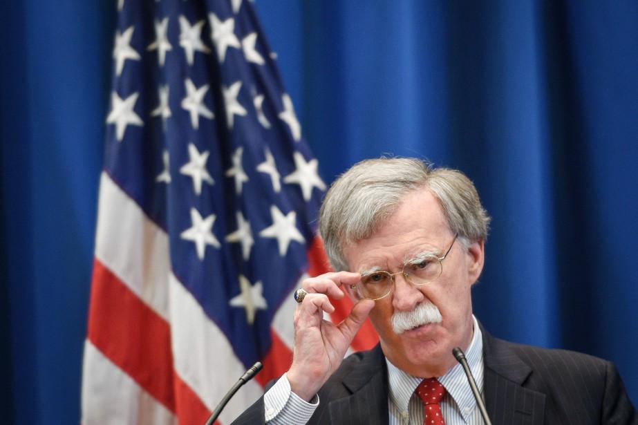 Le conseiller à la sécurité nationale américain JohnBolton.... (Photo Fabrice COFFRINI, Agence France-Presse)