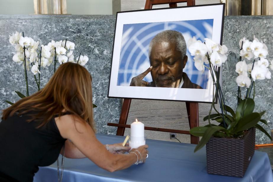 Kofi Annan, qui résidait en Suisse, sera enterré... (Photo Salvatore Di Nolfi, Associated Press)