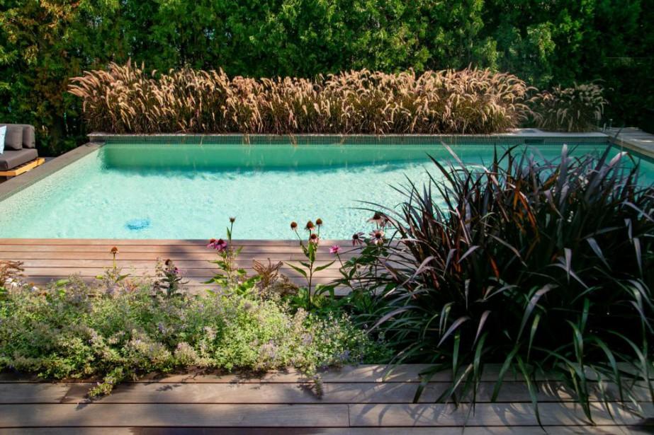 Ce jardin, à l'arrière d'une spacieuse demeure à... (PHOTO DAVID BOILY, LA PRESSE)