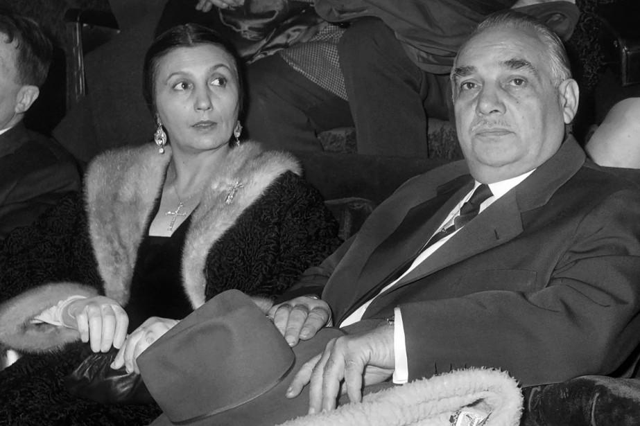 Rosa Bouglione et son mari Joseph photographiés en... (Photo archives AFP)