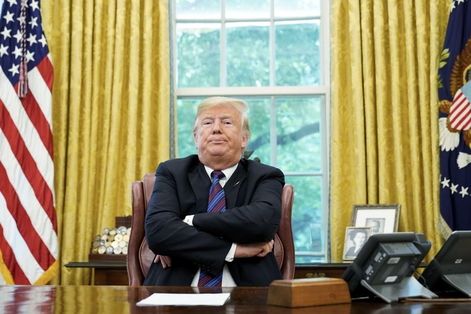 M. Trump s'en était tenu à un tweet... (Photo Mandel Ngan, AFP)