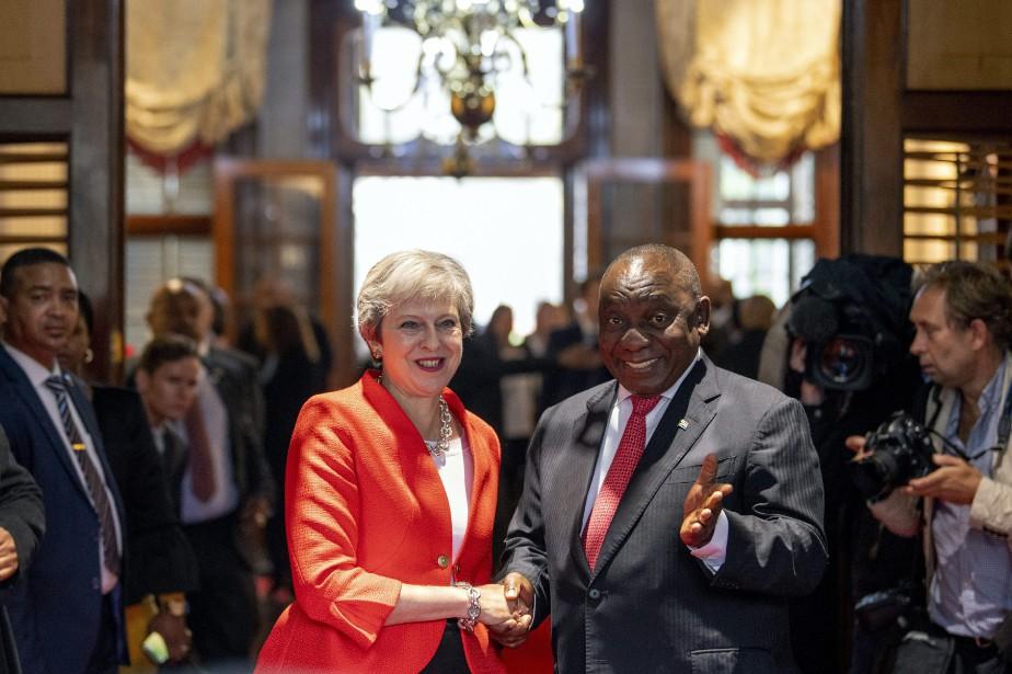 Theresa May s'est entretenue avec le président sud-africain... (AP)
