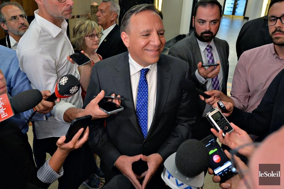 Après répartition des indécis (38 %), la Coalition... (Photo Patrice Laroche, Le Soleil)