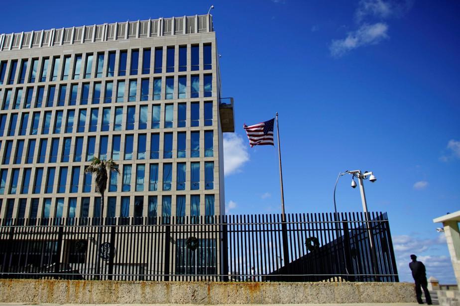 L'ambassade des États-Unis à La Havane, à Cuba... (Photo Alexandre Meneghini, REUTERS)