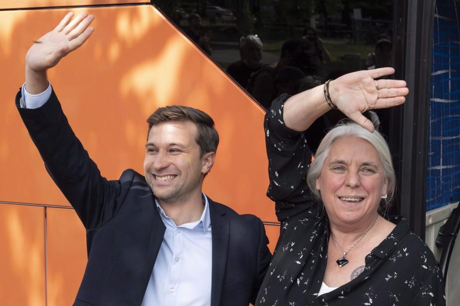 Les porte-parole de Québec solidaire, Gabriel Nadeau-Dubois et... (photo Paul Chiasson, PC)