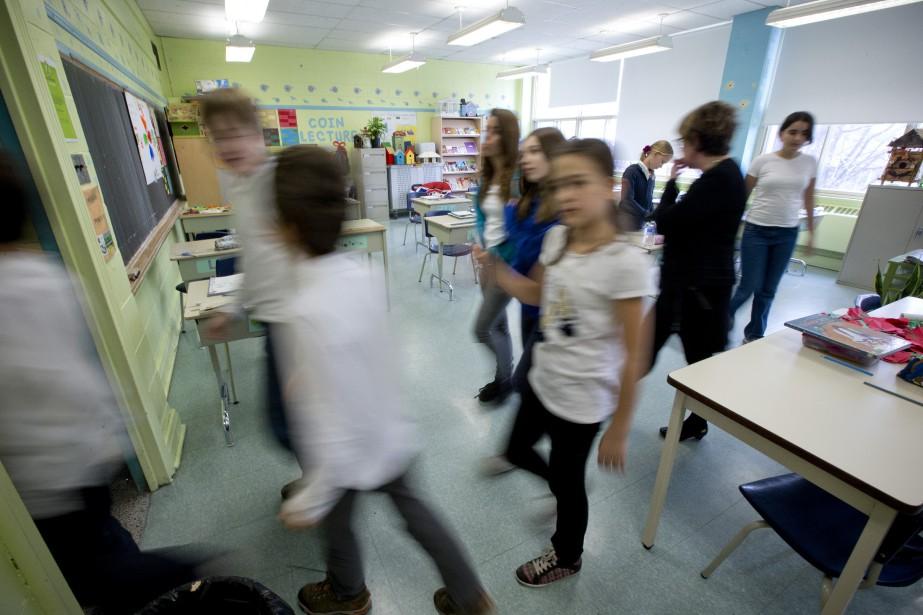 PHOTO DAVID BOILY, LA PRESSE --- La classe... (La Presse)