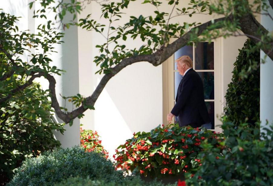 Donald Trump, vendredi dernier à la Maison-Blanche... (PHOTO MANDEL NGAN, AGENCE FRANCE-PRESSE)