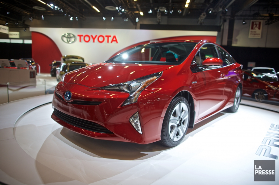 Une Toyota Prius 2016 au Salon de l'auto... (Photo André Pichette, La Presse)