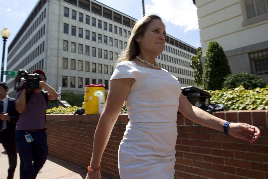 Chrystia Freeland, mère de trois enfants, mariée à... (THE CANADIAN PRESS)