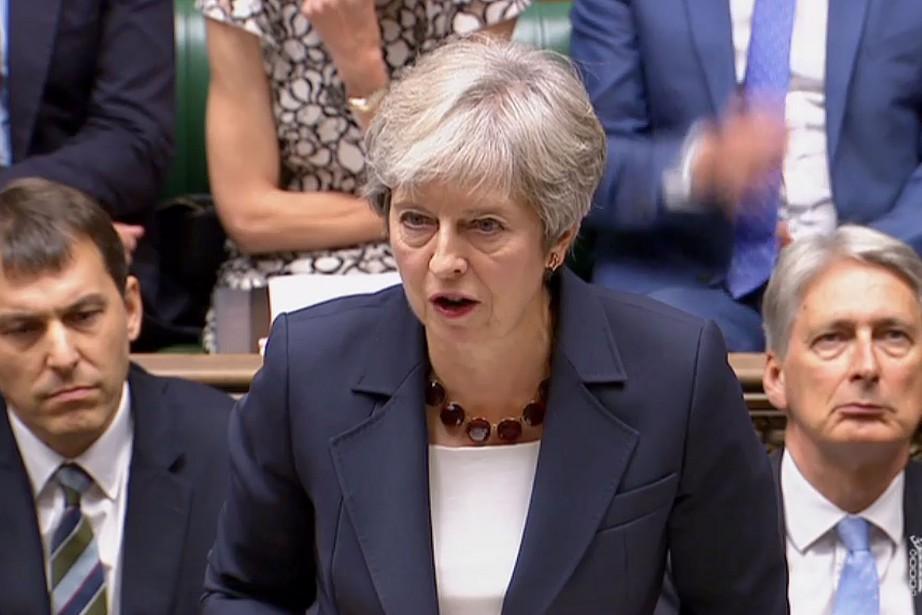 La première ministre britanniqueTheresa May... (PHOTO AFP)