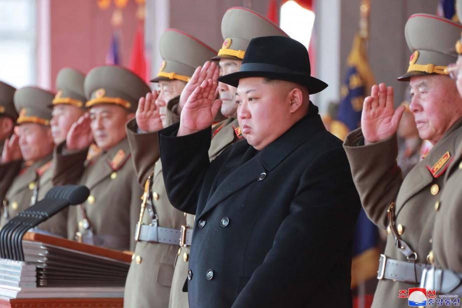 Le dirigeant nord-coréen KimJong-un... (Photo AP)