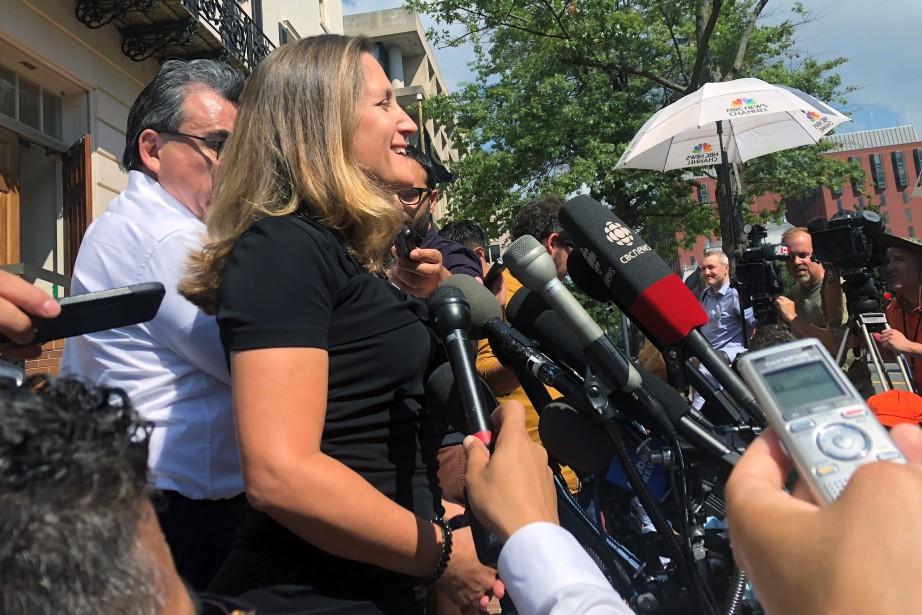 La ministre canadienne des Affaires étrangères Chrystia Freeland... (AP)
