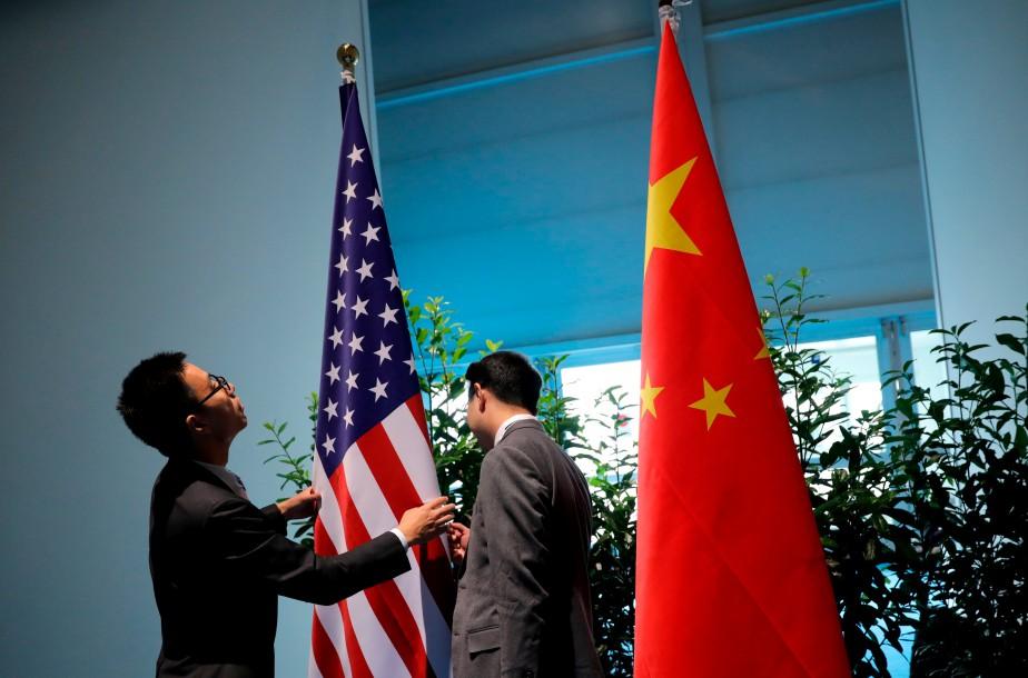 Les tensions commerciales entre Washington et Pékin, mais... (Photo Carlos Barria, archives Reuters)