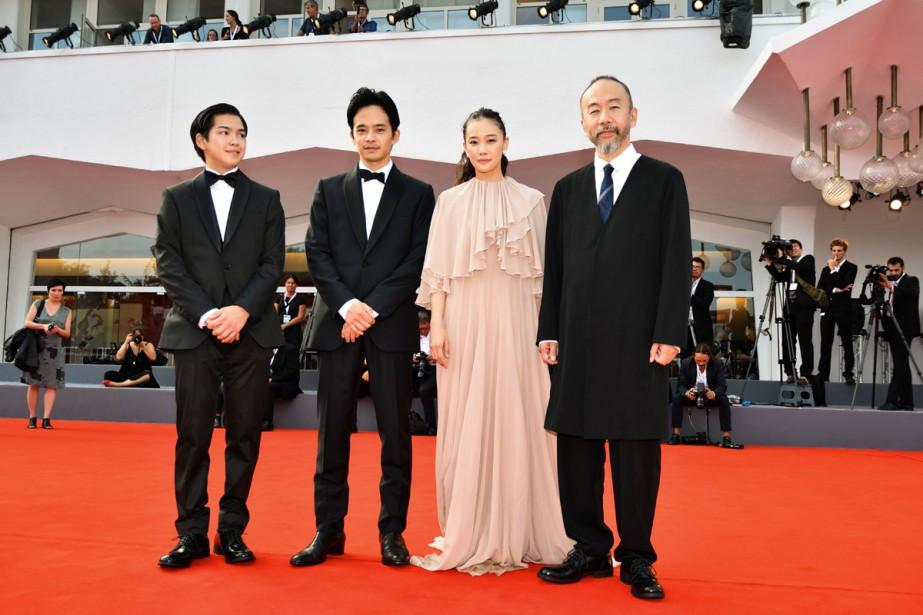 Les acteurs (de gauche à droite) Ryusei Maeda,... (Photo AFP)
