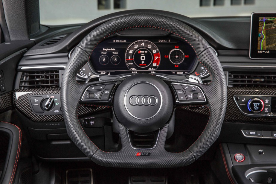 Audi RS5. Instrumentation. | 7 septembre 2018