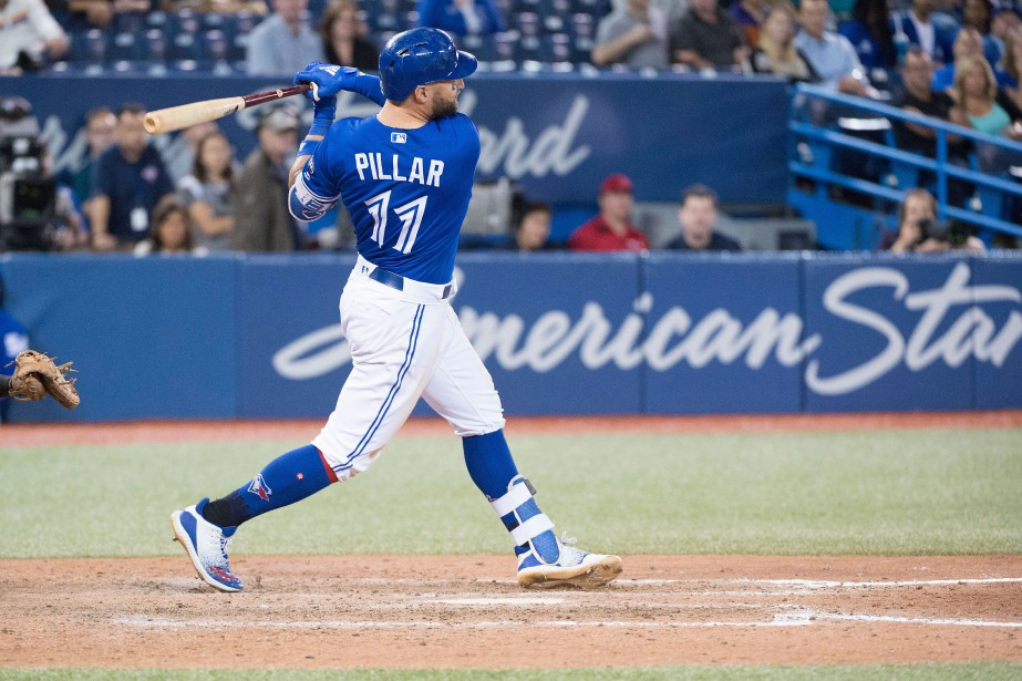 Kevin Pillar a donné la victoire aux Blue... (Photo Nick Turchiaro, USA TODAY Sports)