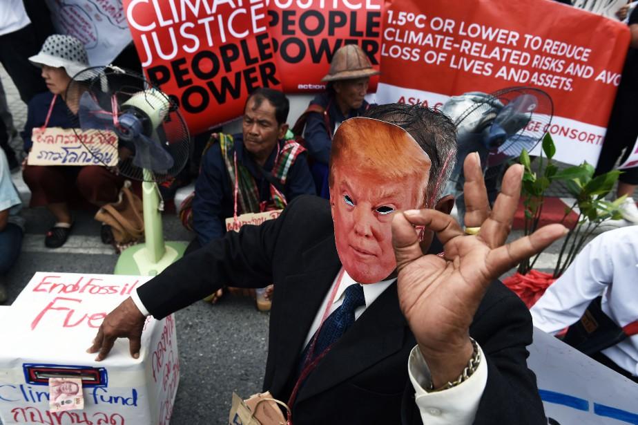 Au Québec, les manifestants prenant part à cette... (Photo Lillian Suwanrumpha, AFP)