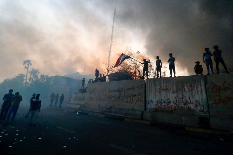 Depuis début juillet, Bassora est l'épicentre d'un mouvement... (Photo Haidar MOHAMMED ALI, AFP)