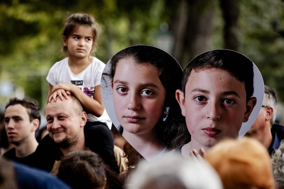 Leur demande d'asile ayant été refusée, Howick, 13ans,... (PHOTO Robin van Lonkhuijsen, ANP/AFP)