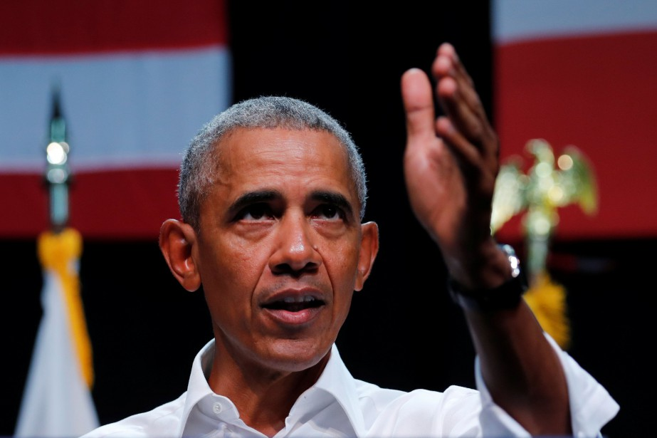 L'ancien président américain Barack Obama... (PHOTO Mike Blake, REUTERS)