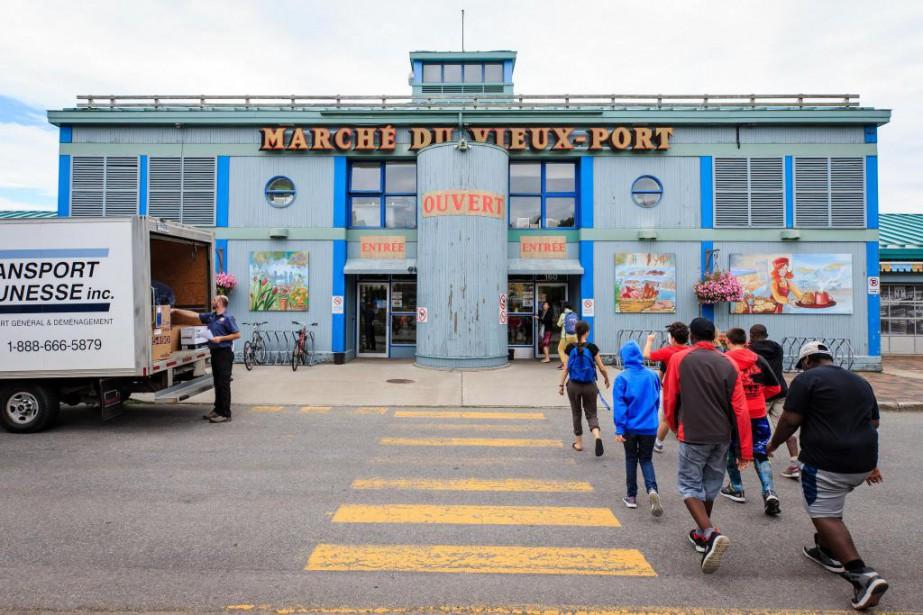 Le marché du Vieux-Port... (Photo Edouard Plante-Fréchette, La Presse)