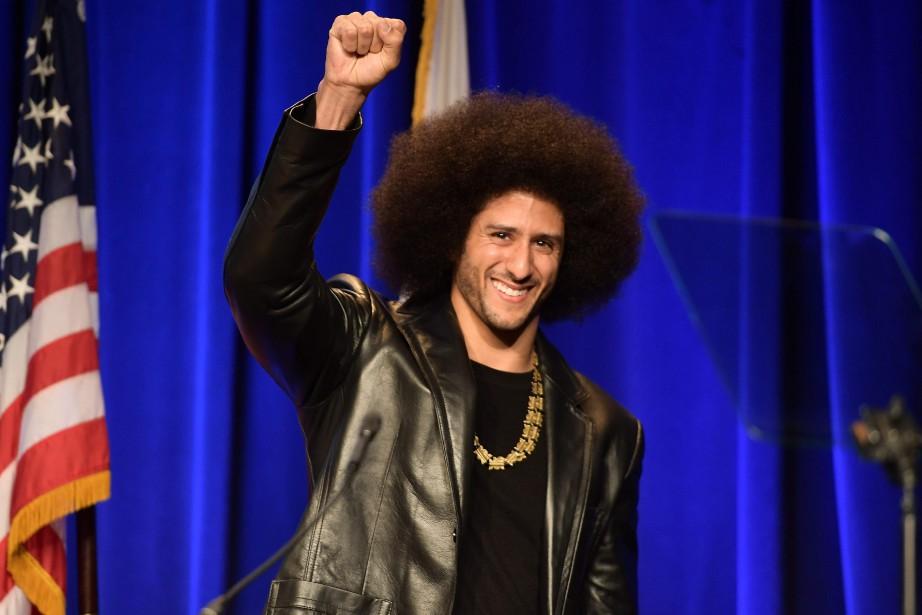 Dans un gazouillis, Kaepernick a salué «mes frères»,... (Photo Matt Winkelmeyer, AFP)