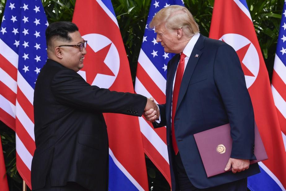 Il y a deux jours, Donald trump a... (PHOTO AP)