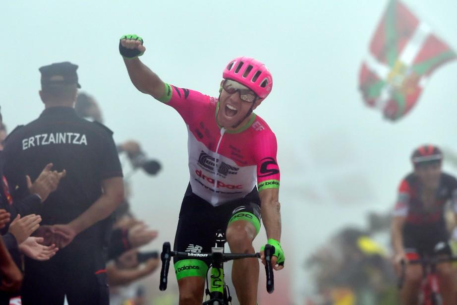 Michael Woodsest devenu le deuxième cycliste canadien à... (PHOTO ANDER GILLENEA, AFP)