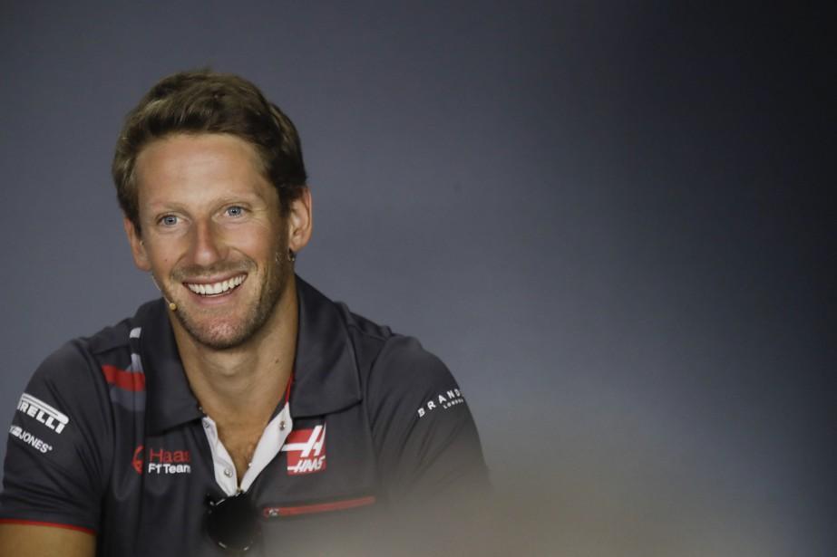 Le Français Romain Grosjean, pilote chez Haas. (AP)