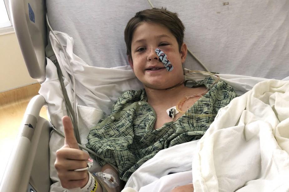 L'état du jeune Xavier Cunningham était si stable... (PHOTO AP/SHANNON MILLER)