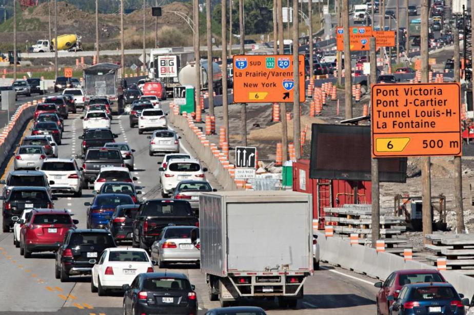 Les coûts associés à la congestion routière dans... (Photo Patrick Sanfaçon, Archives La Presse)