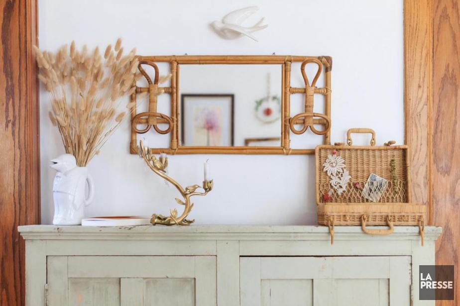 Chez Julie Plantier et Sébastien Lavigne, l'osier est omniprésent. (Photo Edouard Plante-Fréchette, La Presse)
