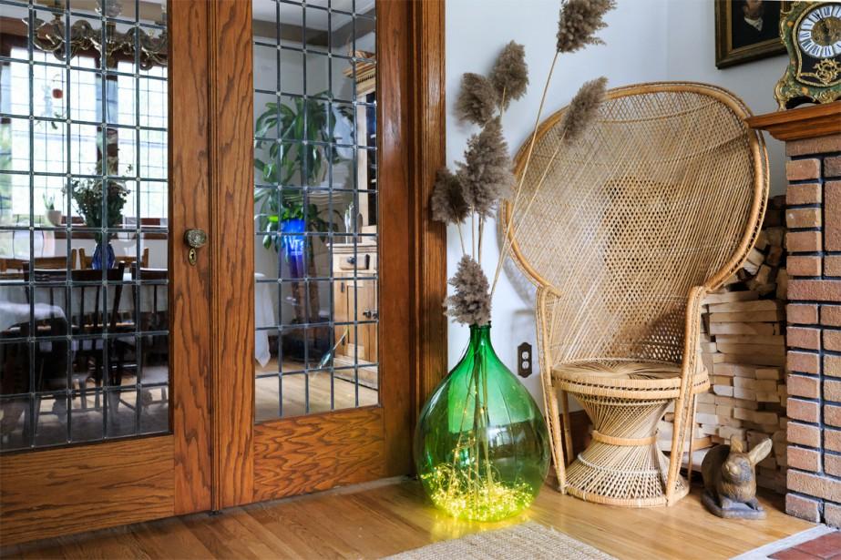 Ce fauteuil Pomare ou Emmanuelle a été déniché pour 20 $. (Photo Edouard Plante-Fréchette, La Presse)