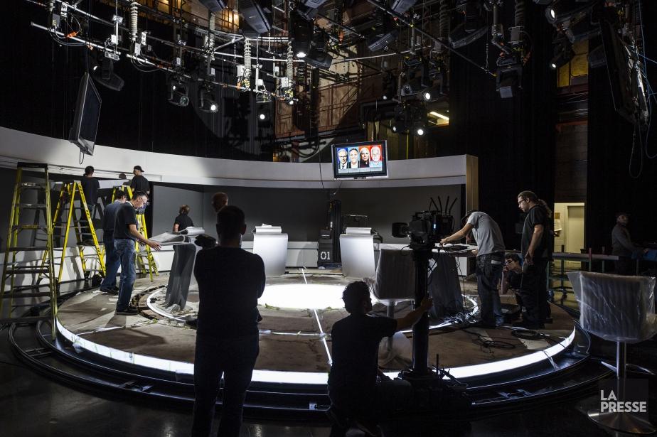 Quatre chefs, un débat. (Photo Olivier Pontbriand, La Presse)