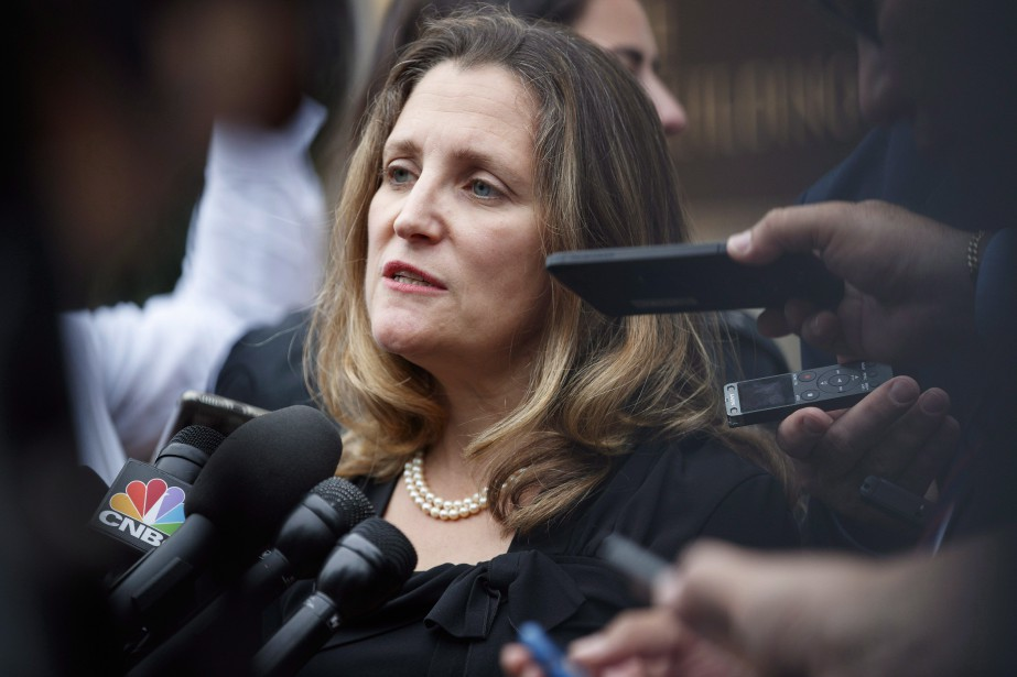 La ministre des Affaires étrangères,Chrystia Freeland... (PHOTO Carolyn Kaster, AP)