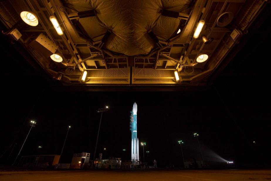 La fusée Delta II utilisée pour le lancement... (PHOTO Bill INGALLS, AFP/NASA)