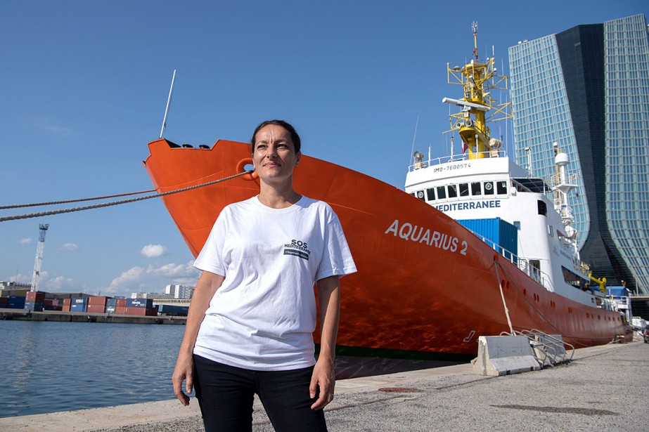 La directrice générale de l'ONG SOS Méditerranée, Sophie... (PHOTO CHRISTOPHE SIMON, AGENCE FRANCE-PRESSE)
